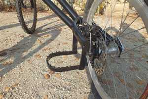 cart 3 roues TRACZER detail frein roue arriere