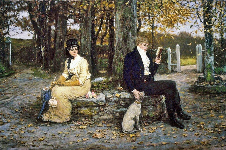 George Henry Boughton - The Waning Honeymoon