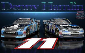 Denny Hamlin Wicked Text Autism Speaks Wallpaper