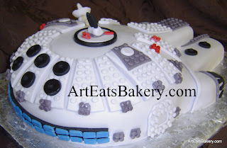 Star Wars Millennium Falcon Lego custom unique Groom's cake design