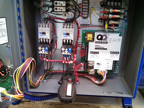 Quincy compressor wiring diagram on 200v motor running on 240v? air compressor troubles Embraco Compressor Wiring Diagram quincy duplex air compressor wiring diagram