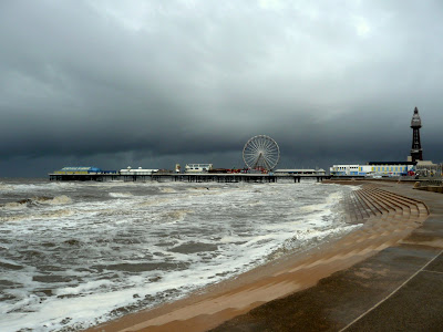 Stormy scenes at Blackpool