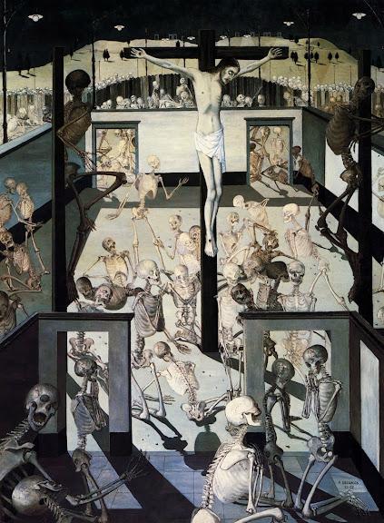 Paul Delvaux - Crucifixion, 1957