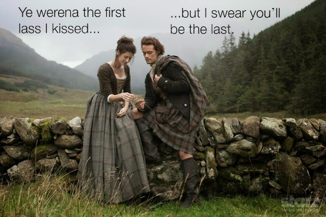 Claire and Jamie from Starz Outlander Series: Ye werena the first lass I kissed...but I swear you'll be the last.""