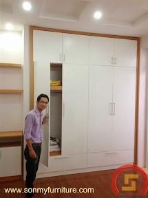 Mẫu tủ quần áo âm tường SMF 736