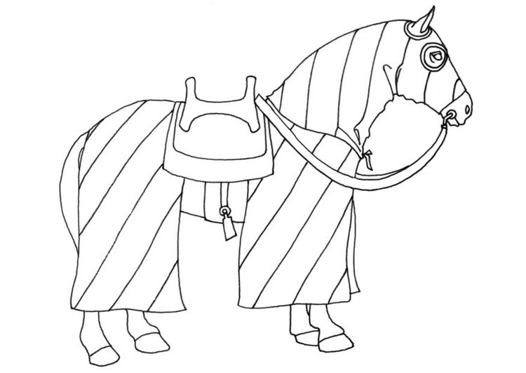 Middle ages knight horse coloring pages