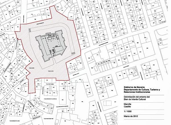 Delimitación definitiva del entorno de protección del Castillo de Marcilla