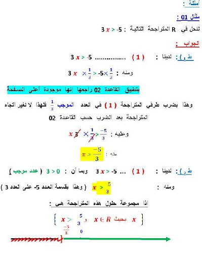 كيفية حل متراجحة و تمثيلها بيانيا 4 متوسط 3.JPG