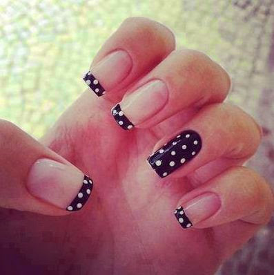 black & white nail art designs