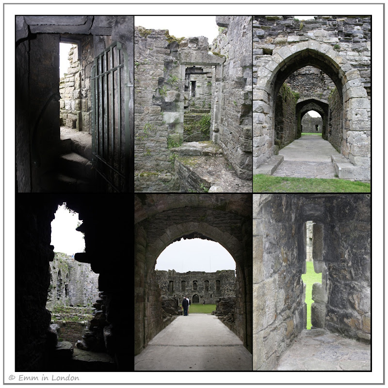 Doorways and arrow slots at Beaumaris Castle