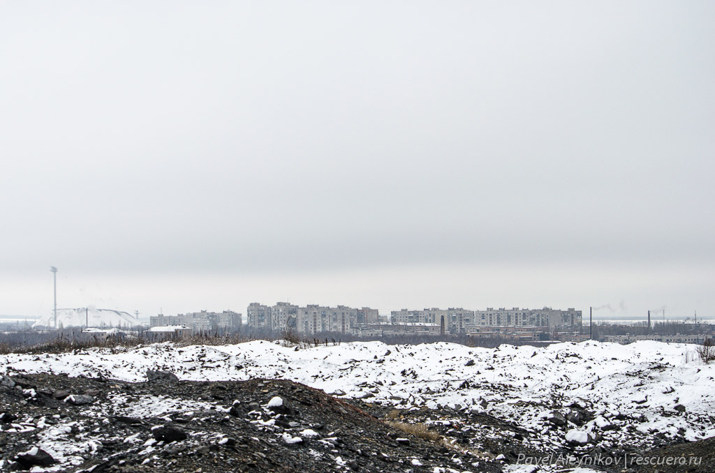 Вид с террикона на микрорайоны Тореза
