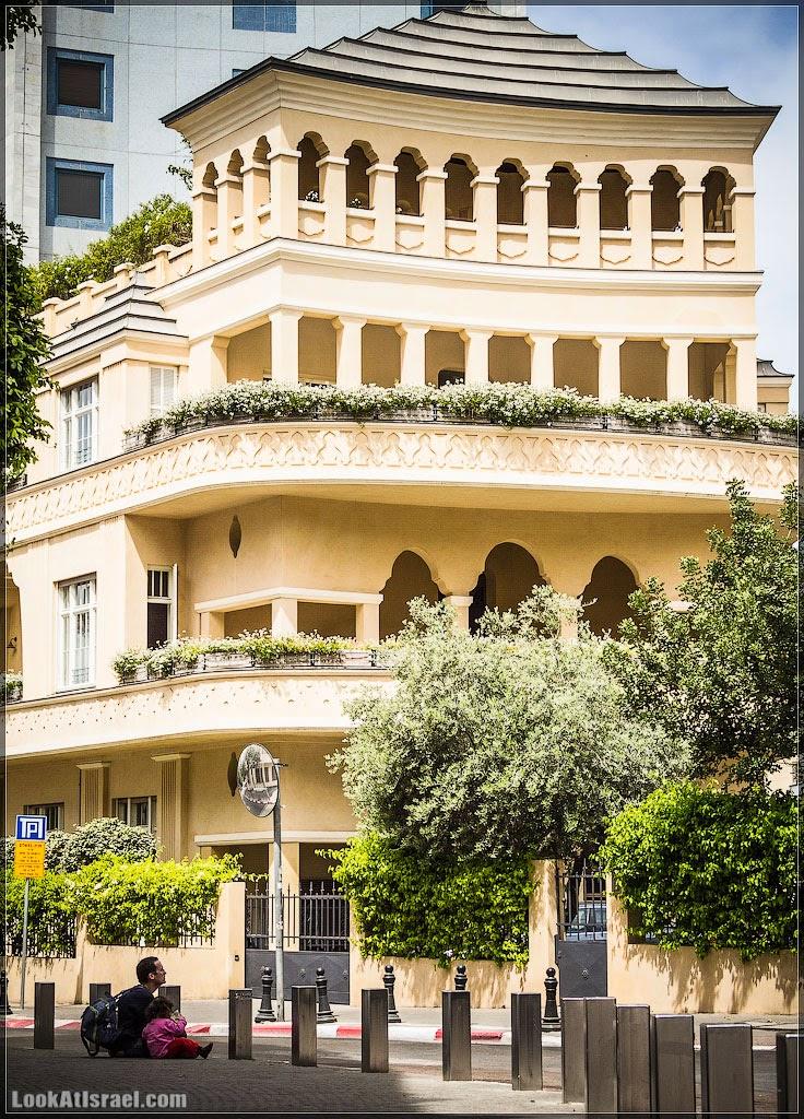 Израиль, Тель Авив, дом Пагода   Israel, Tel Aviv, Pagoda   ישראל, תל אביב, בית הפגודה