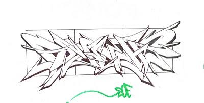 Graffiti wildstyle image - aurora type images