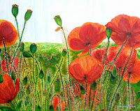 painting Dreamy Red Poppy picnic