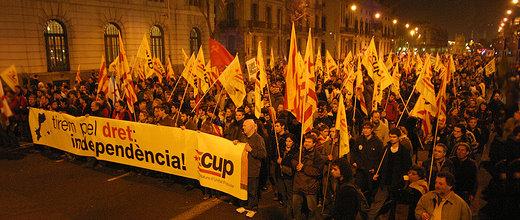 Manifestació 1 desembre 2007 pel Dret de Decidir. Bloc de la CUP