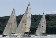 J/109 sailboats- sailing upwind off Ireland