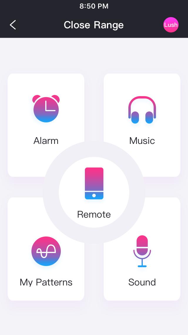 Lush Remote App Home