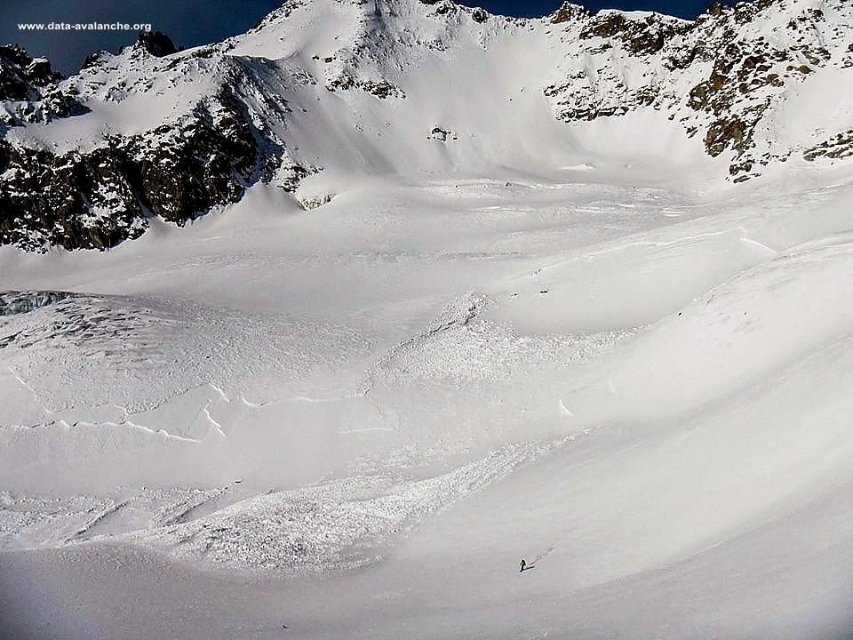 Avalanche Mont Blanc, secteur Glacier du Toule, Itinéraire normal du Glacier de Toule - Photo 1
