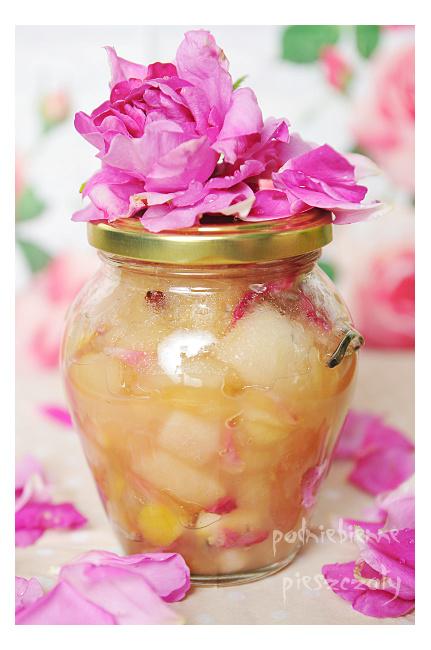 Konfitura jabłkowo - różana