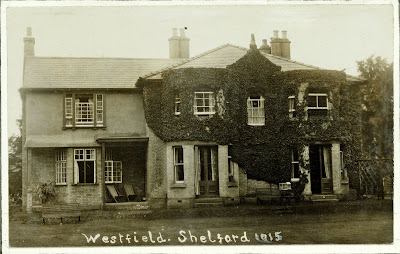 """This photo shows the modern addition to the old house which is covered with creepers."" From A Record of Shelford Parva by Fanny Wale P18"