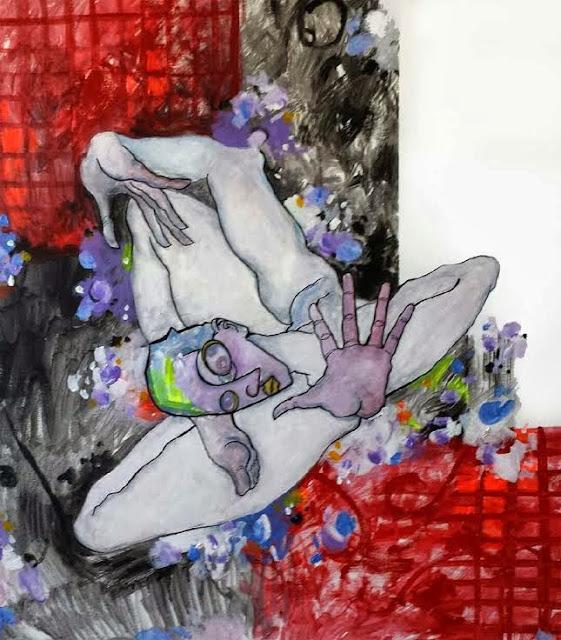 Buscándose a sí mismo,pintura en acrílicode Álvaro Peña