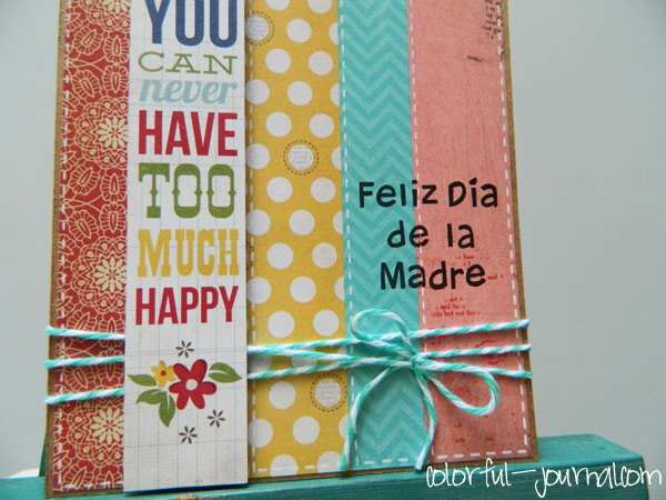 happy mother's day card create blog challenge