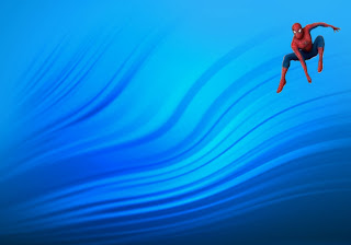 Spiderman Comic Super Heroe  Flying Wallpapers in Classic Ripple background