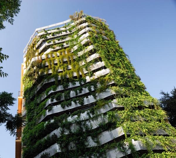 Jardín vertical de Tarradellas. Barcelona.