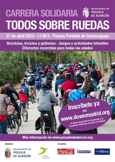 Marcha solidaria 'Todos sobre ruedas' en Pozuelo, domingo 21 de abril 2013