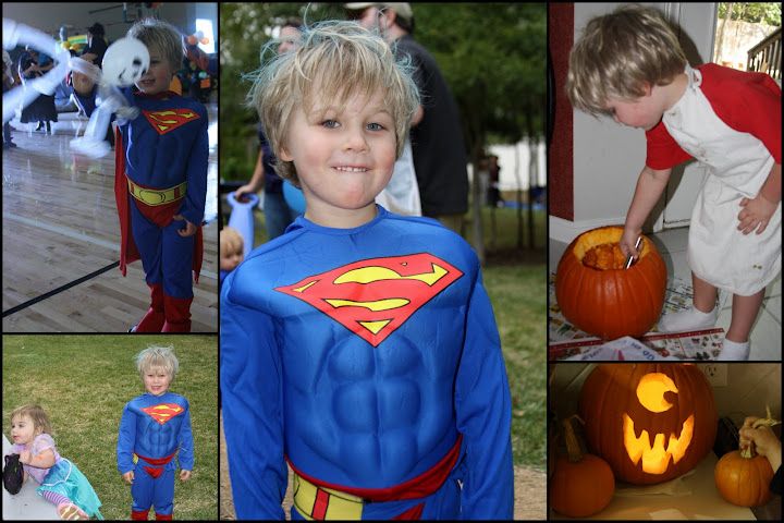 The Tackler hated pumpkin guts, but loved being Superman.