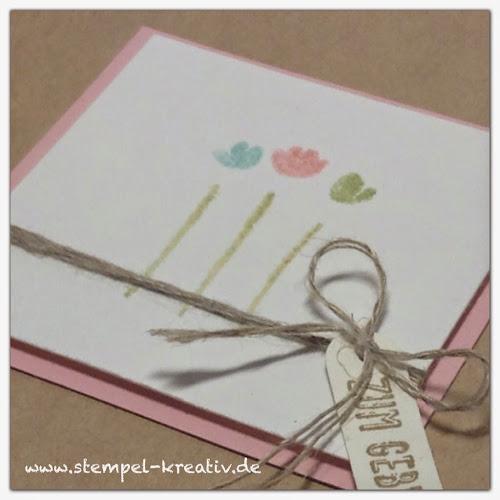 Stampin up Glückwunschkarte Painted Petals