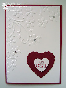 stampin up, hearts a flutter, perfekte pärchen, hochzeit, wedding, thanks