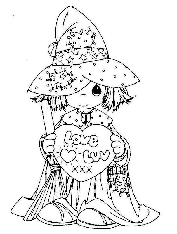 Precious moments witch free coloring pages coloring pages for Precious moments giraffe coloring pages