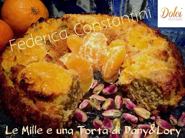 ciambellone senza burro mandarini e pistacchio