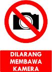 Rambu Dilarang Membawa Kamera