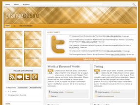 Orange Desire Wordpress Theme