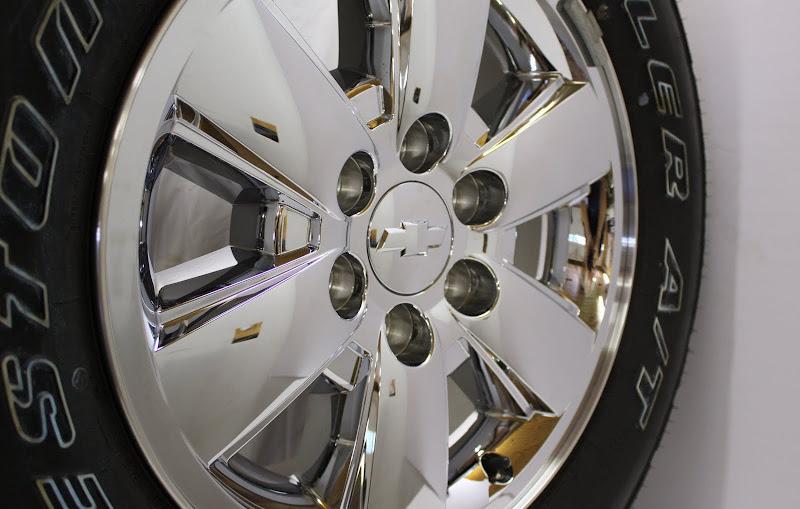 "2013 Chevy Silverado Suburban Tahoe Avalanche 18"" Z71 Chrome Wheels Rims Tires"