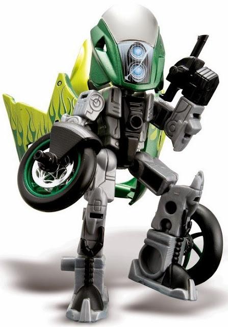 Maximum có thể lắp ghép từ xe mô tô thành các chiến binh Robo