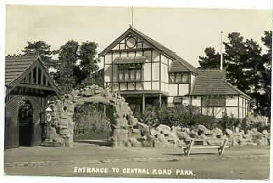 Entrance to Central Road Park-