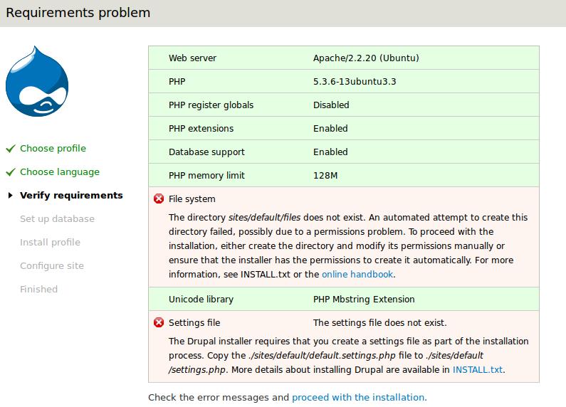 Linux Drupal Permissions install