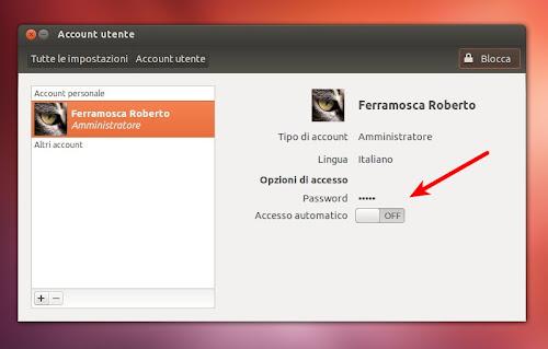 Ubuntu 12.10 - Account Utente