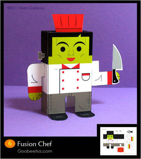 Fusion Chef Paper Toy