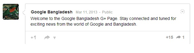 Bangladesh Google plus Page