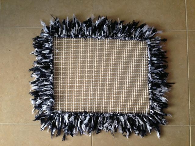 Abaloriosatdh alfombra de trapillo con flecos - Alfombras de trapillo ...