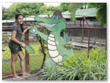 friendly croc cut off his tail at crocolandia