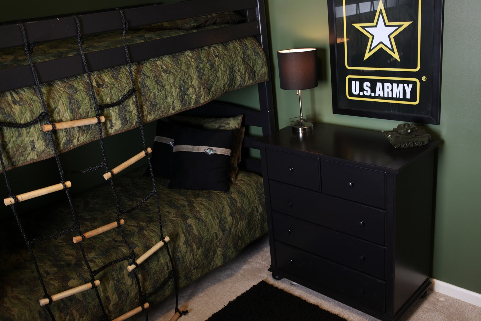 Army themed room demorest designs for Camouflage bedroom ideas for kids
