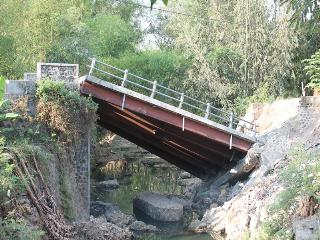 Proyek Jembatan ambrol di wonorejo kedunggalar Ngawi