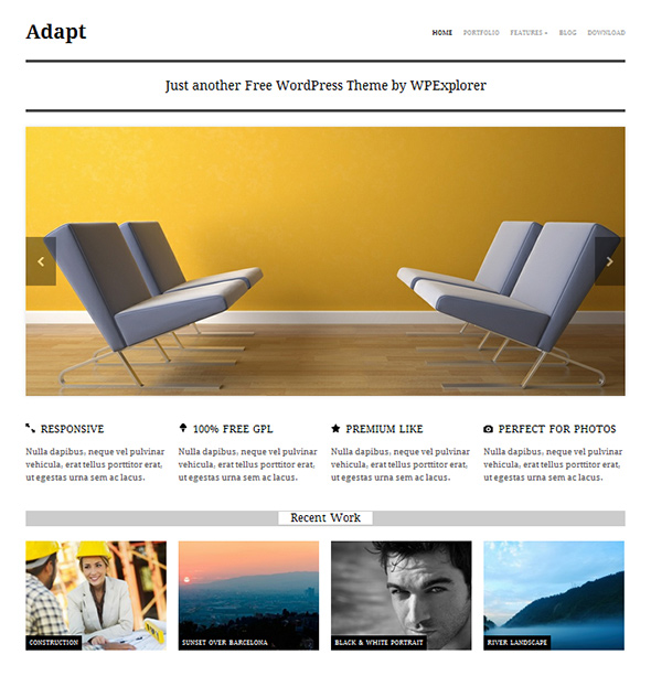 Adapt Free and Clean WordPress Theme