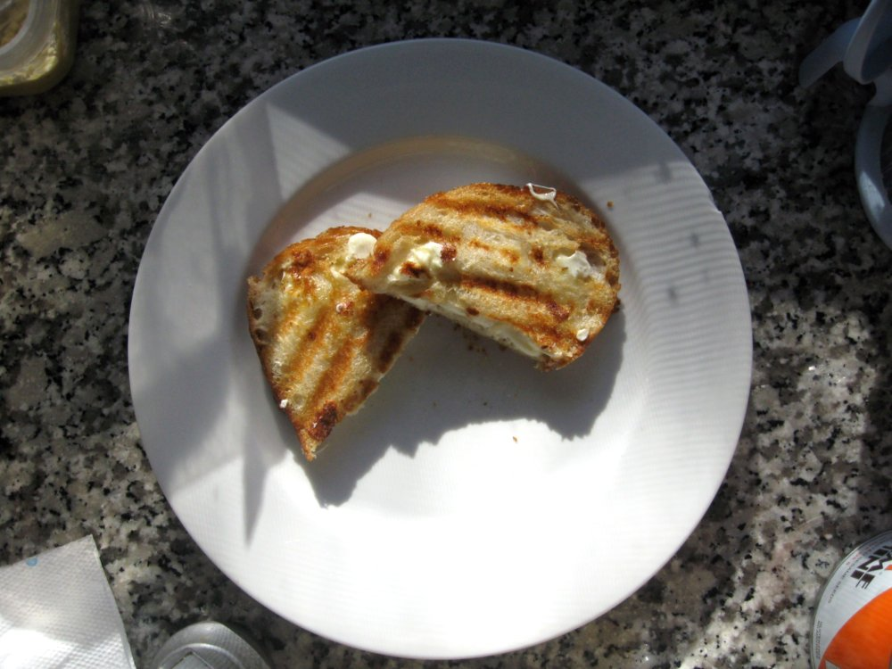 Grilled cheese from above