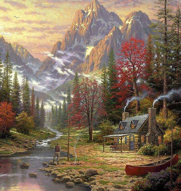 Fondos de pantalla de hermosos paisajes de cascadas for Pinturas bonitas para casas
